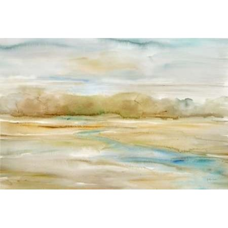 Watercolor Landscape Neutral Rolled Canvas Art   Cynthia Coulter  12 X 18