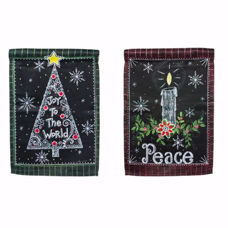 Evergreen Enterprises, Inc Peace Candle 2-Sided Garden Flag