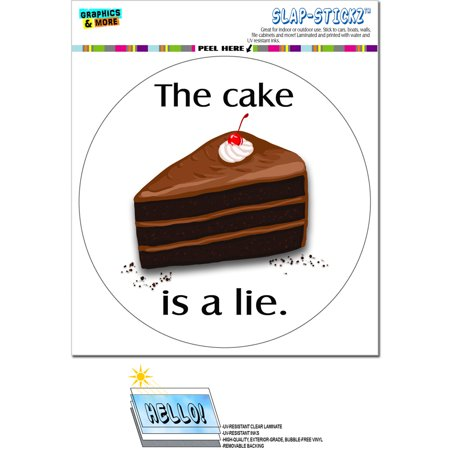 The Cake is a Lie - Piece of Cake Dessert Food Nerd Geek Gamer Circle SLAP-STICKZ(TM) Premium (Peace Circle)