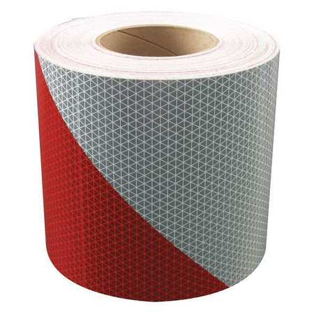 REFLEXITE 18848 Reflective Tape,W 3 In,Red/White