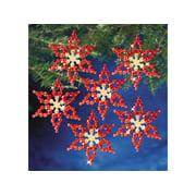 Beadery Craft Ornament Kit Poinsettias