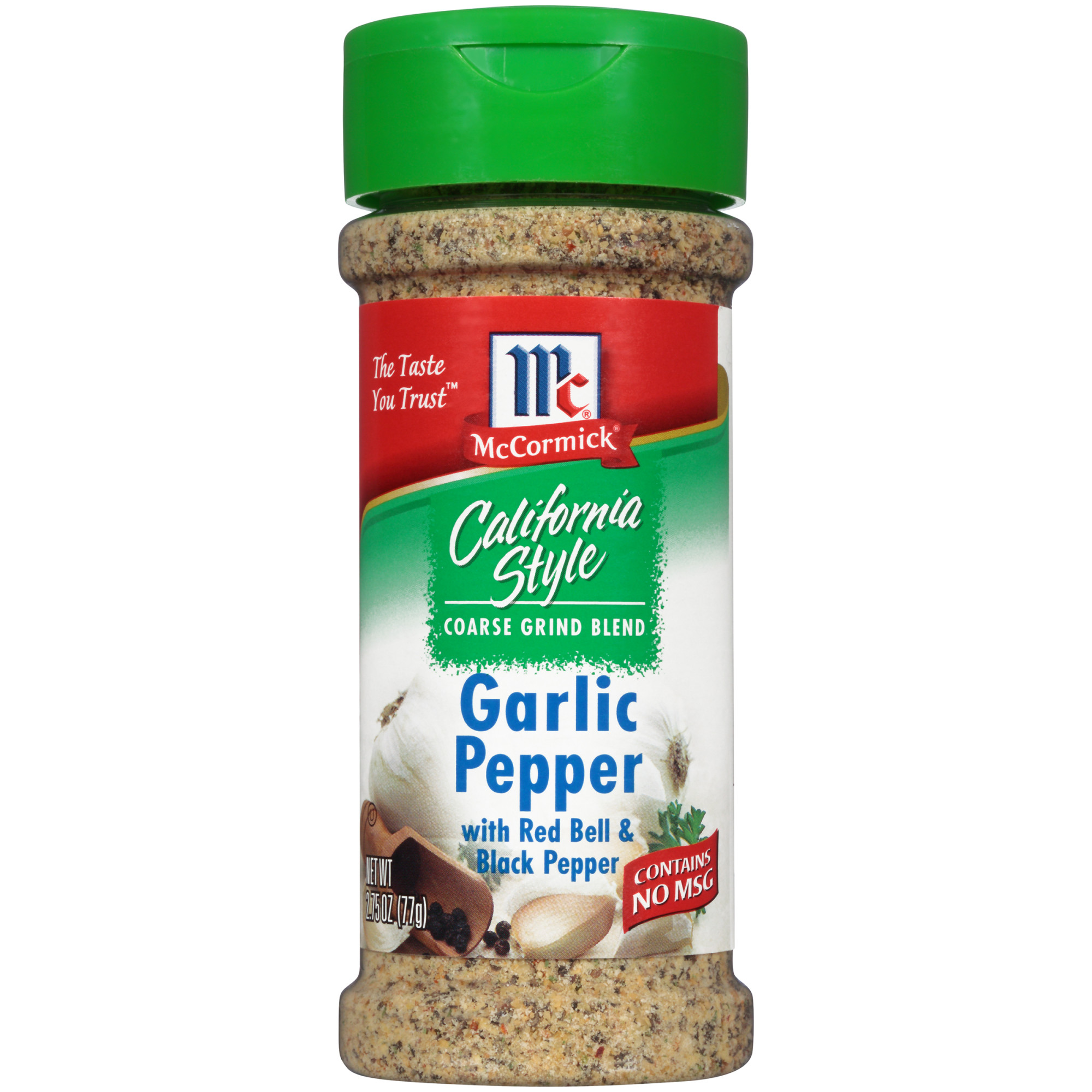 McCormick California Style Garlic Pepper With Red Bell & Black Pepper Coarse Grind Blend, 2.75 oz