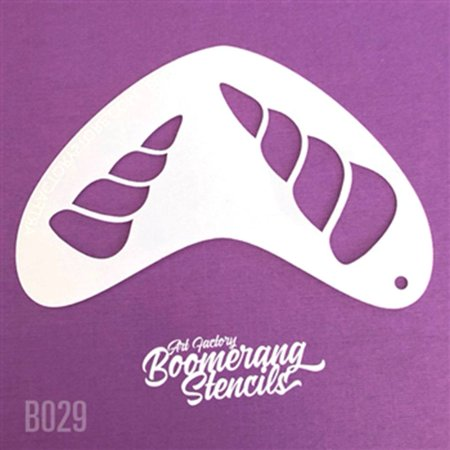 Art Factory Boomerang Stencil - Unicorn, Reusable Face Painting Stencil, Great for Fairs, Carnivals, Party and Halloween - Puppy Face Painting For Halloween