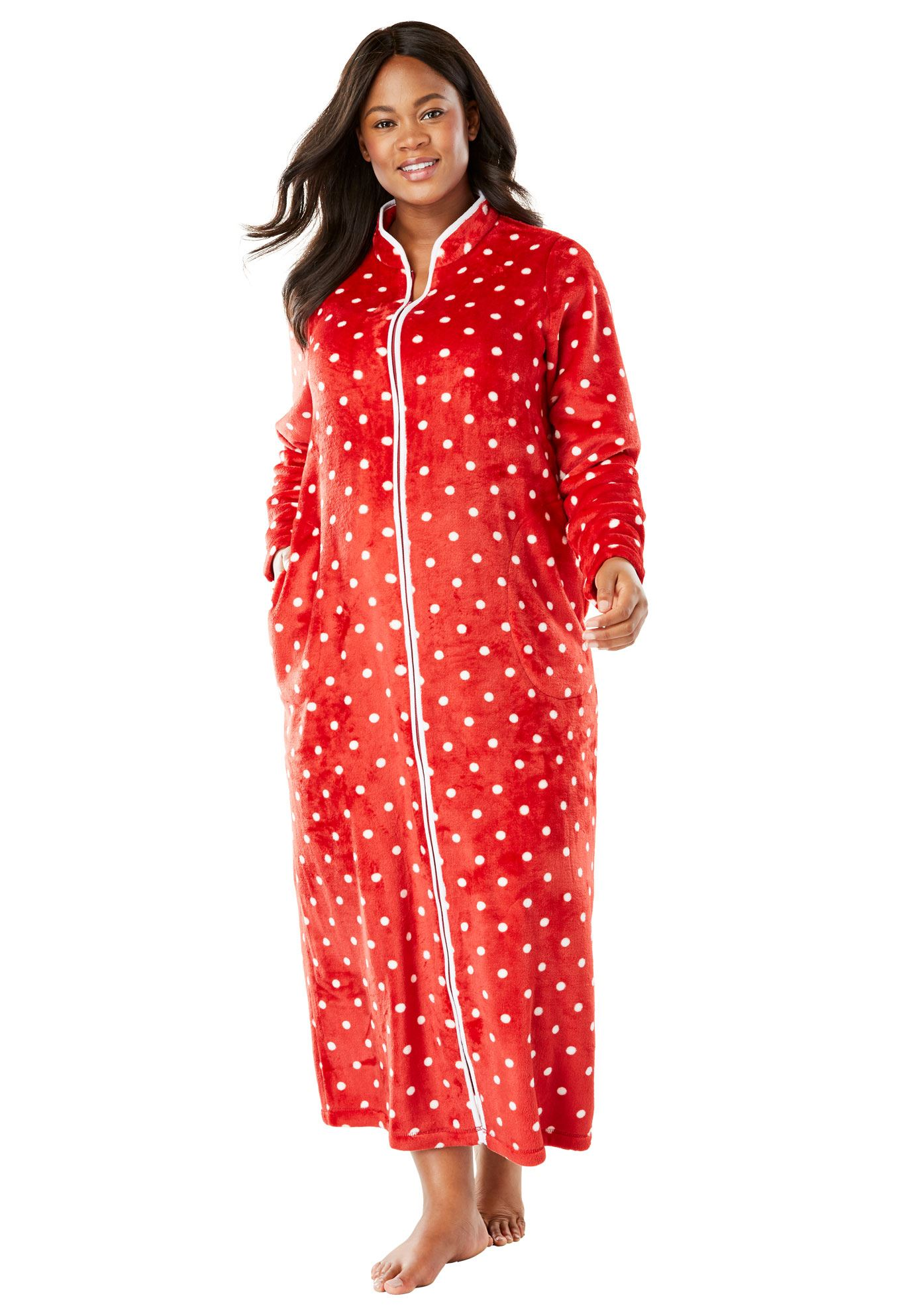 Dreams & Co. Plus Size The Microfleece Robe