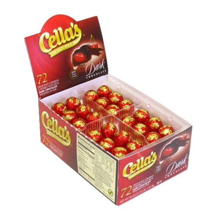Cella Covered Cherry Dark Chocolate, Contains Soy And Milk - 72 Ea - Chocolate Covered Fruit For Halloween