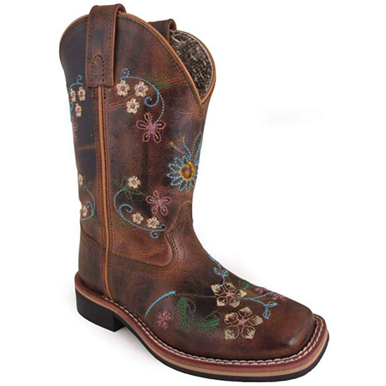 Smoky Mountain Girl's Floralie 3843 Brown Leather Western Boots 3843 Floralie 45cde2