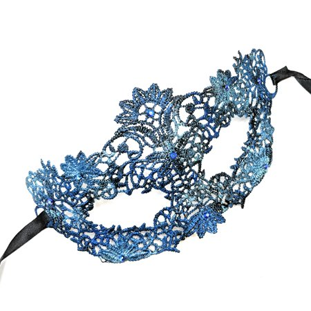 Success Creations Gisele Teal Lace Masquerade Mask for Women