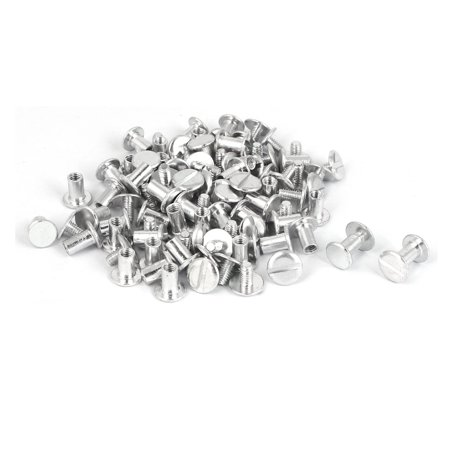 Uxcell M5 x 8mm Purse Belts Scrapbooks Aluminum Binding Chicago Screws Posts (50-pack) Factory Team Aluminum Screw