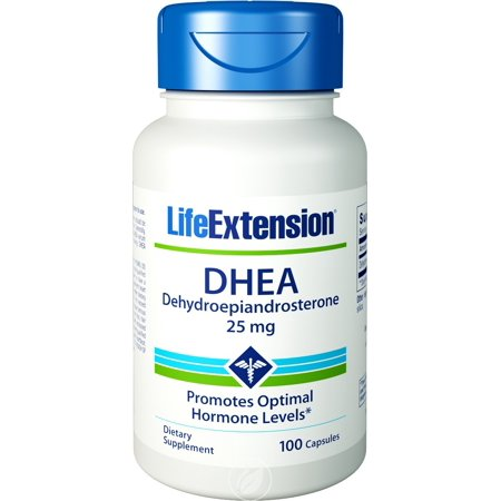 Life Extension, DHEA 25 MG 100 CAPSULES, Pack of