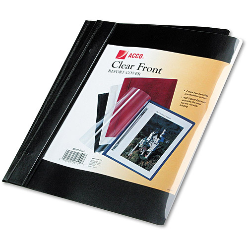 """ACCO Vinyl Report Cover, Prong Clip, Letter, 1/2"""" Capacity, 10-pack"""