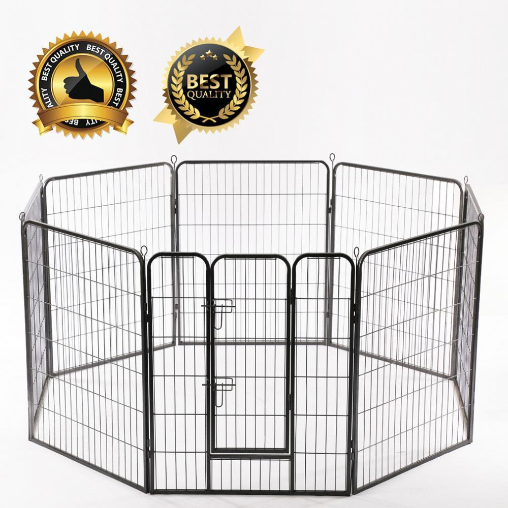 "32""*32"" Heavy Duty 8 Panel Folding Metal Pet Playpen Dog Exercise Fence"