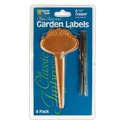 Luster Leaf Classic Impressions Ornamental Copper Garden Plant T-Label - 4 Pack 778