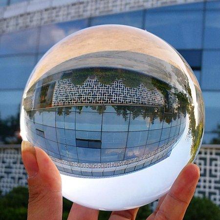 Crystal Ball Clear Asian Rare Natural Round Quartz Magic Healing Sphere 100mm