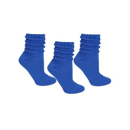 Cotton 3 Pack Slouch Socks - 80s Slouch Socks