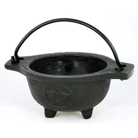 AG Small Pentagram Cast Iron Cauldron - Small Cast Iron Cauldron