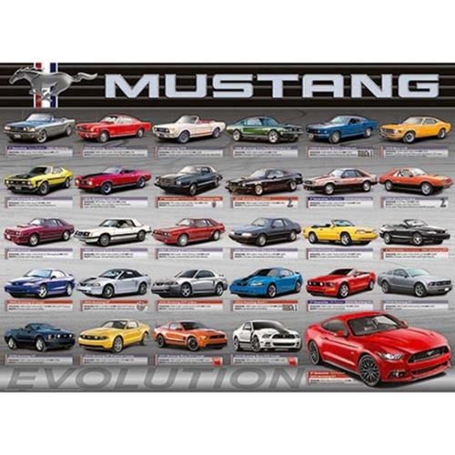 Eurographics Ford Mustang Evolution-50 years Jigsaw Puzzle