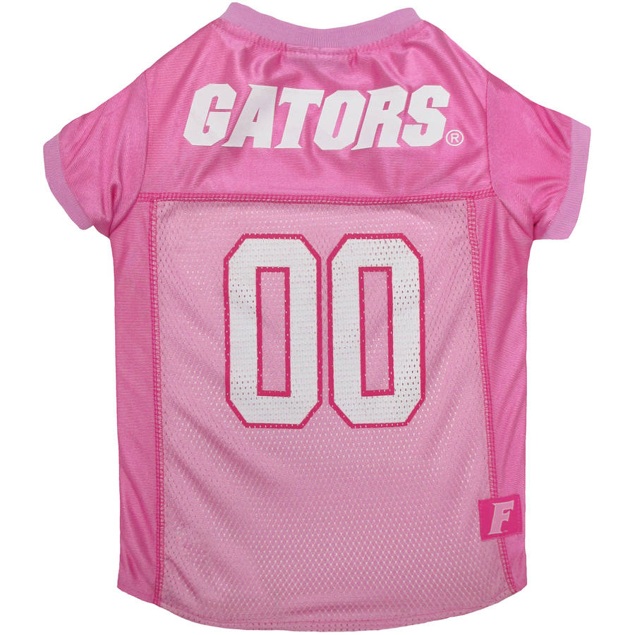 Pets First College Florida Gators Pet Pink Jersey, 4 Sizes Available