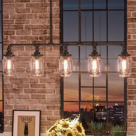 Urban Ambiance Luxury Industrial Chandelier, Large Size: 19.25