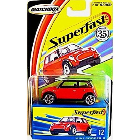 Red Mini Cooper S Matchbox Superfast Series 1 64 Scale Collectible