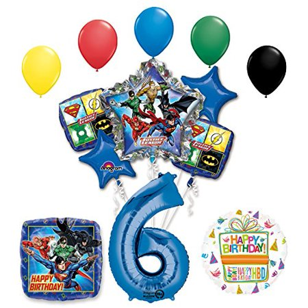 The Ultimate Justice League Superhero 6th Birthday Party Supplies - Superhero Party Ideas