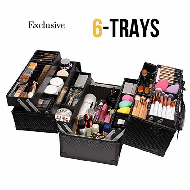 6 Trays Cosmetic Cases Makeup Storage