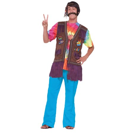 Hippie Peace Vest Adult Halloween Accessory - Hippie Halloween Look