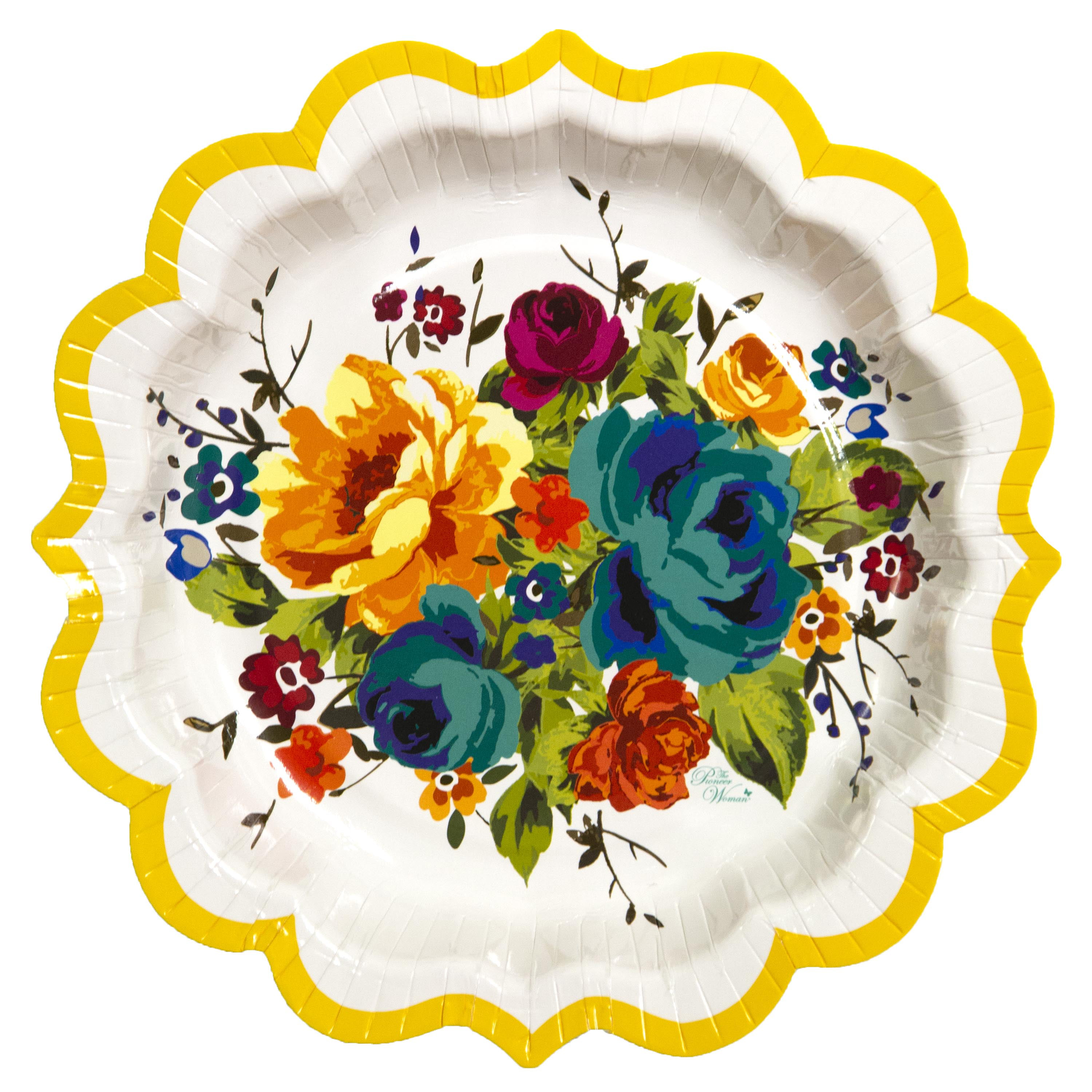 Pioneer Woman Country Floral Paper Plates 8 In 12ct Walmart