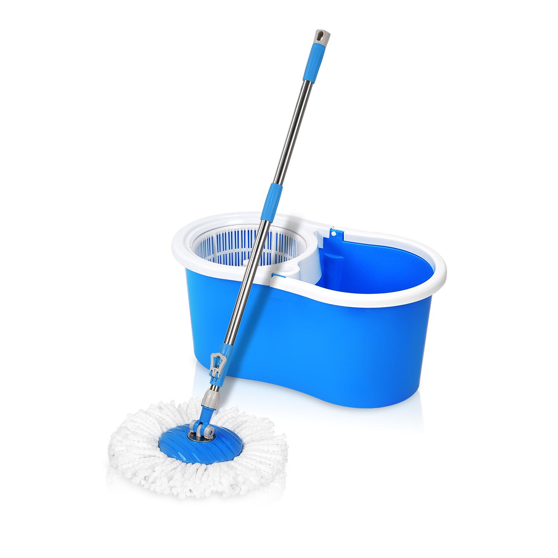 Woodsam Magic Spin Mop Easy Press Mop Bucket Set 360