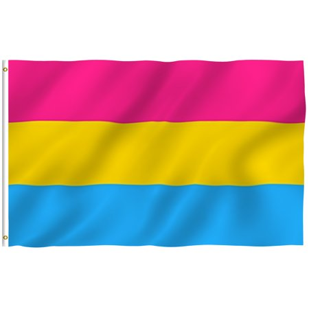 - ANLEY [Fly Breeze] 3x5 Foot Pansexual Pride Flag - Vivid Color and UV Fade Resistant - Canvas Header and Double Stitched - Omnisexual LGBT Flags Polyester with Brass Grommets 3 X 5 Ft