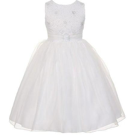 7928c8eb977 BNY Corner Flower Girl Dress Sparkly Bodice   Stylish Skirt for Big ...