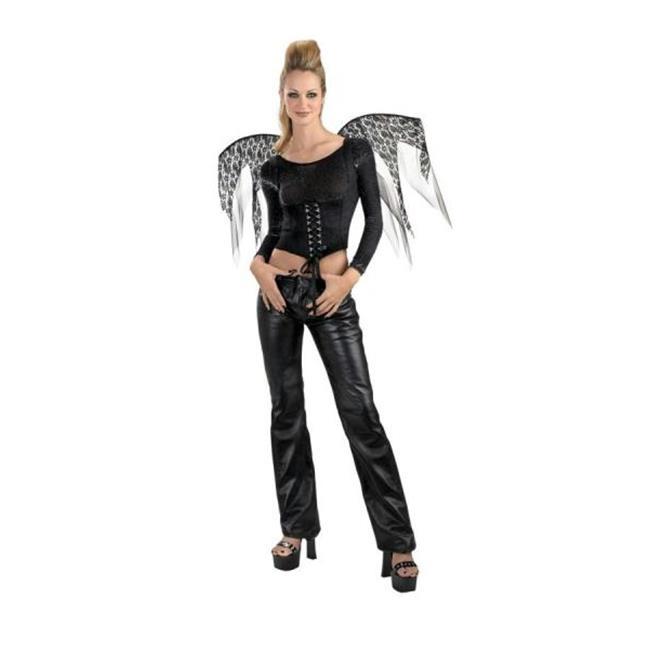 MorrisCostumes DG14530 Wings Black Lace Corset - image 1 of 1