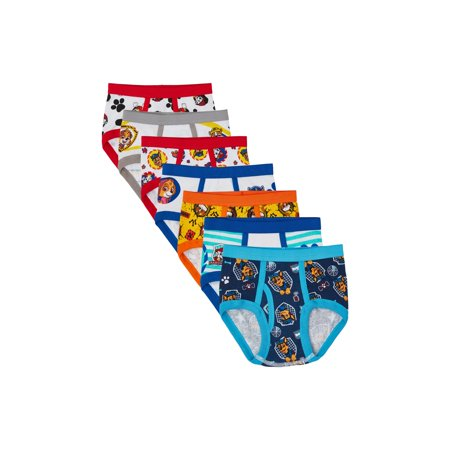 Paw Patrol Brief Underwear, 7-Pack (Toddler Boys) (Low Rise Boy Brief)