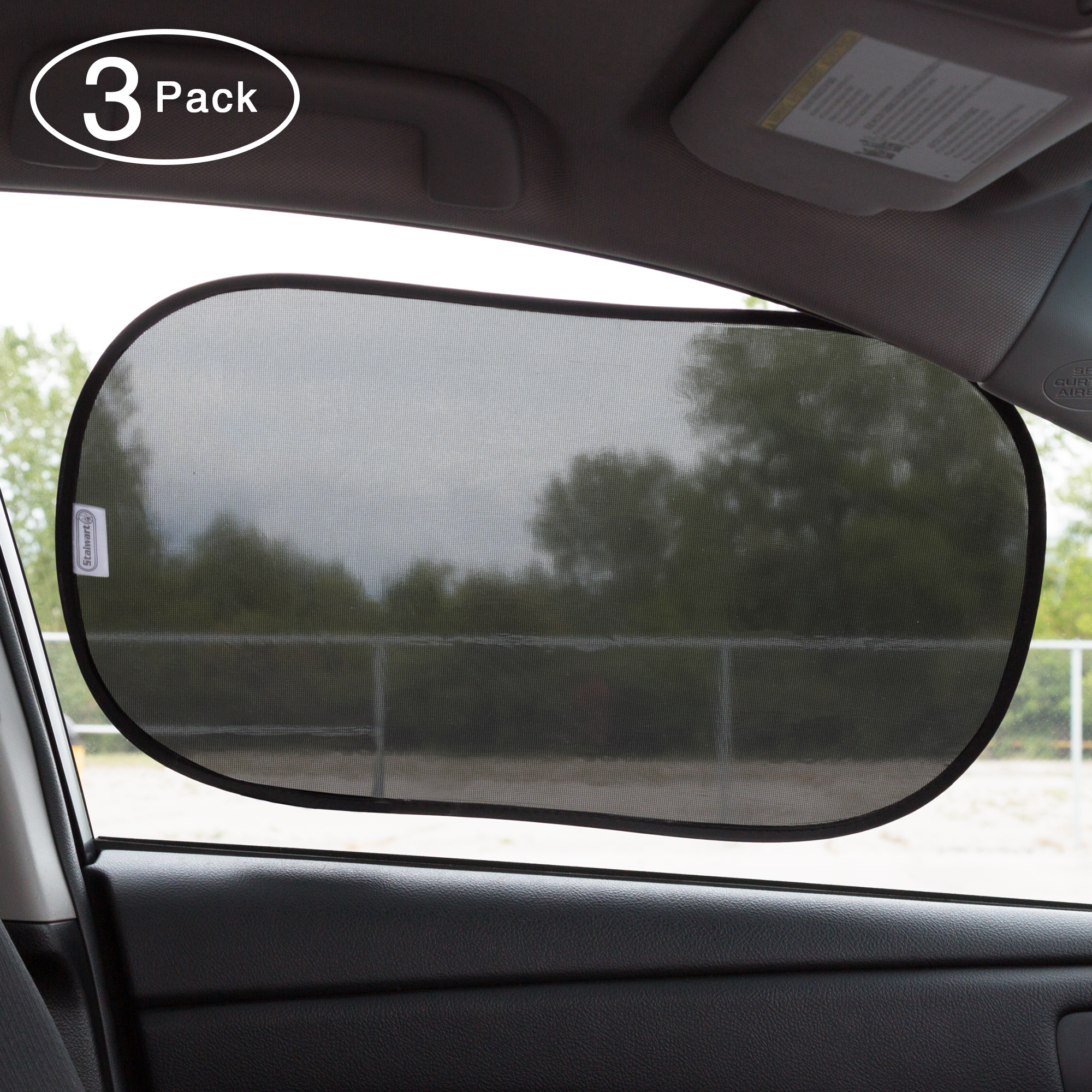 UV and glare protection Jump Baby 2 Pack Baby Car Window Sun Shades Static Cling Technology Baby Products