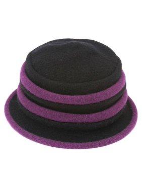 Womens Winter Two-Tone Wool Bucket Hat