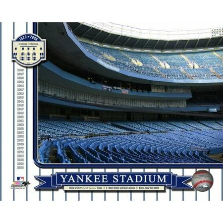 - Yankee Stadium 1923-2008 Color Photos Inside of Stadium Blue Seats Photo Print
