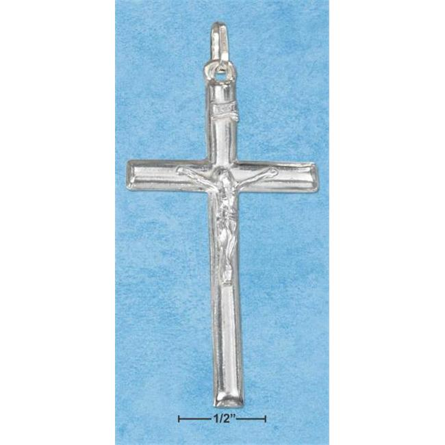 Sterling Silver Large Tubular Italian Crucifix Charm - image 1 of 1