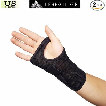Adjustable Carpal Tunnel 2 Wrist Support Brace Sprain Forearm Splint Band Straps