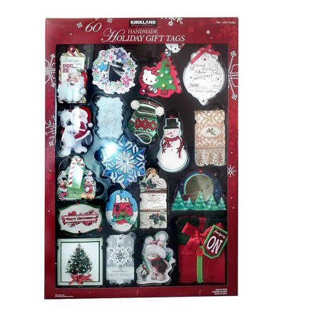 Christmas Gift Tags Handmade.Kirkland Signature 60 Handmade 3d Holiday Gift Tags