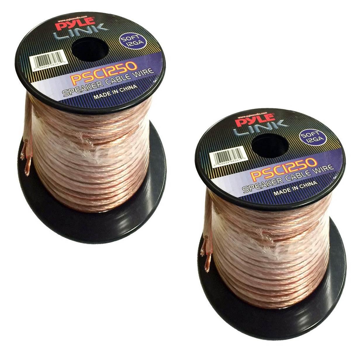 Spool of High Quality Speaker Zip Wire Pyle PSC1250 12 Gauge 50 ft