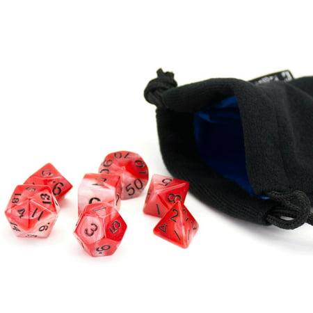 Ruby Swirl W Black  7  New Condition