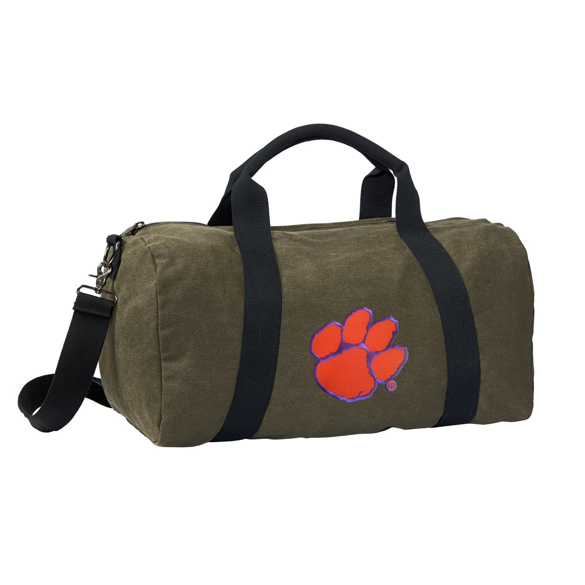 Clemson University Duffle Bag CANVAS Clemson Luggage Bag by