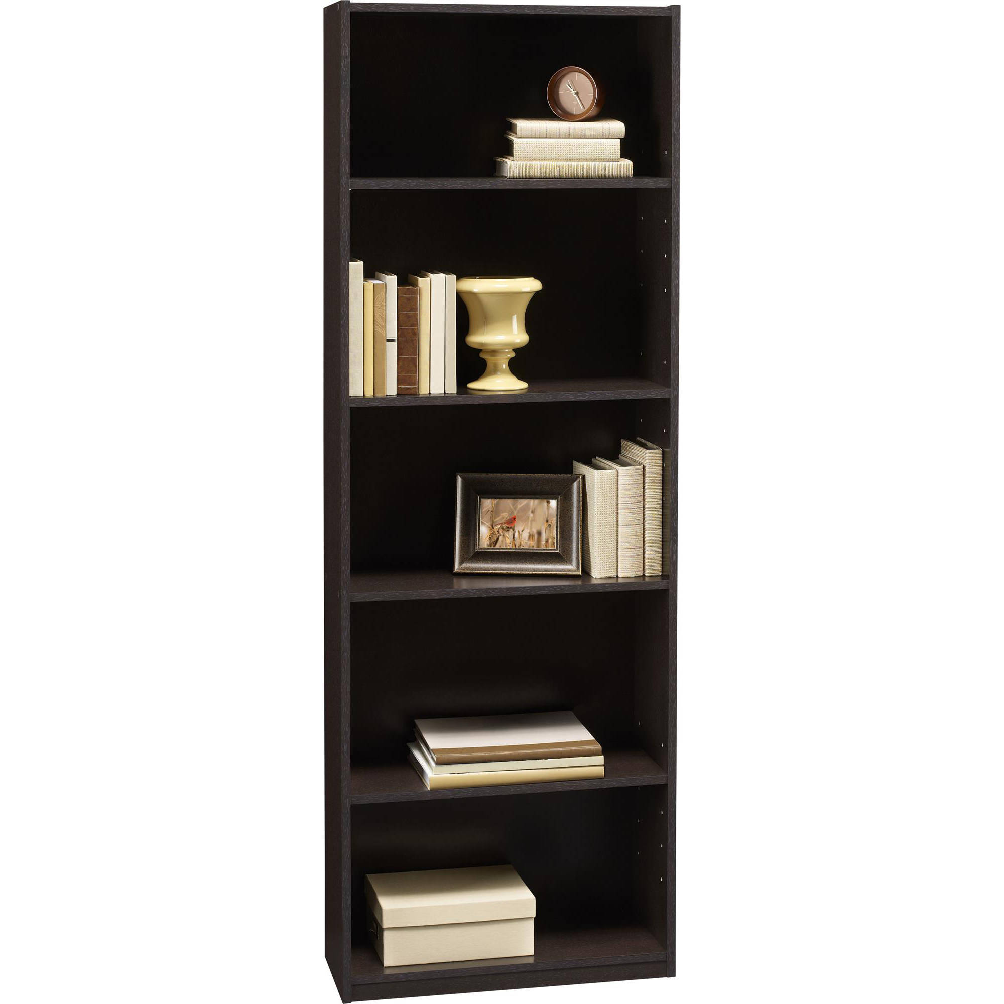 small shelf bookcase sauder select black products bookcases