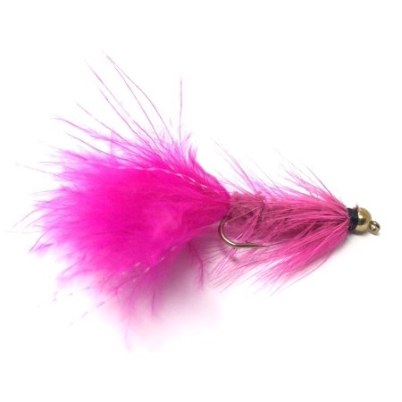 Bead Head Wooly Bugger Fly Fishing Flies - One Dozen - Many Colors and