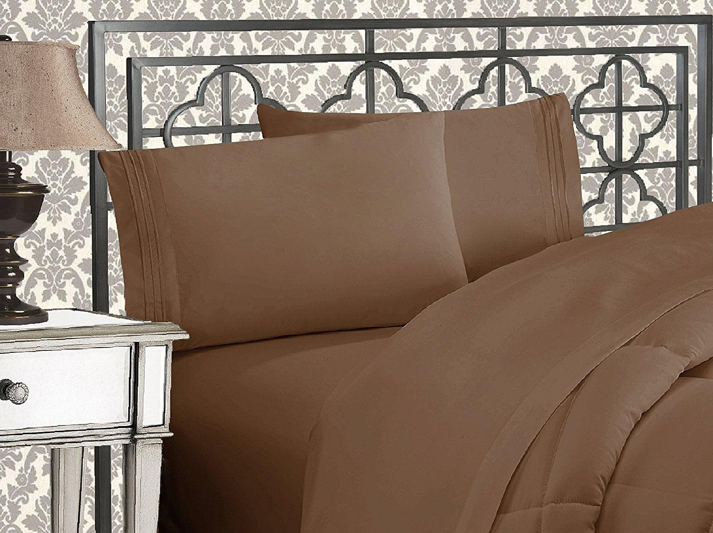 Elegant Comfort 2 Piece Luxurious Silky-Soft Pillowcases Standard Gray