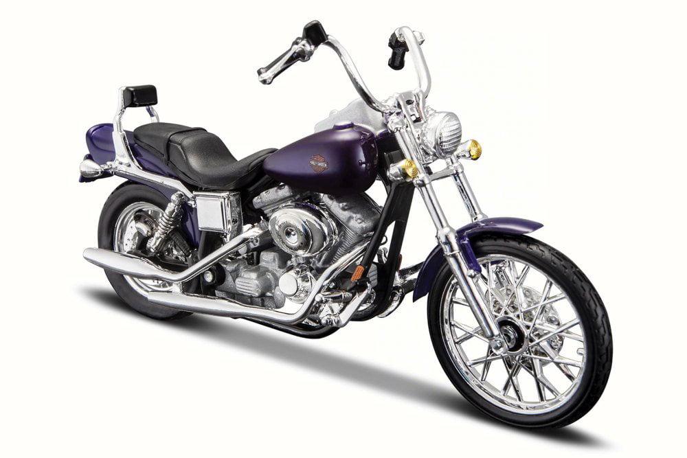 2001 Harley-Davidson FXDWG Dyna Wide Glide, Metallic Blue Maisto 31360-34 1 18 Scale... by Maisto