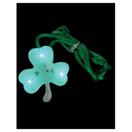 St Patricks Day Blinking LED Irish Shamrock Necklace](Led Light Necklace)