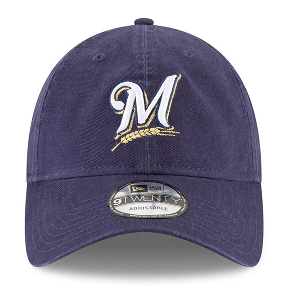 021211e63d33f5 Milwaukee Brewers New Era 2018 Postseason Side Patch 9TWENTY Adjustable Hat  - Navy - OSFA - Walmart.com