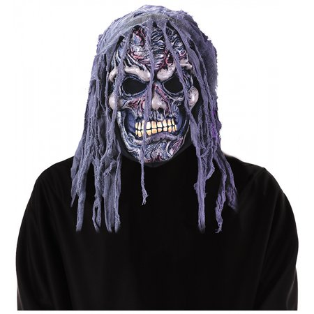 Zombie Mask Adult Costume Accessory Grey Zombie - Rob Zombie Halloween Pumpkin Mask