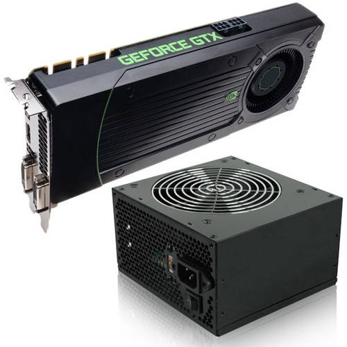 NVIDIA GeForce GTX 950 2GB GDDR5 PCI Express 3.0 Graphics Card with 600W 80 Plus Power Supply