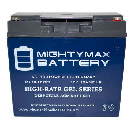 12v 18ah Gel Replacement Battery For Yardworks Lawn Mower